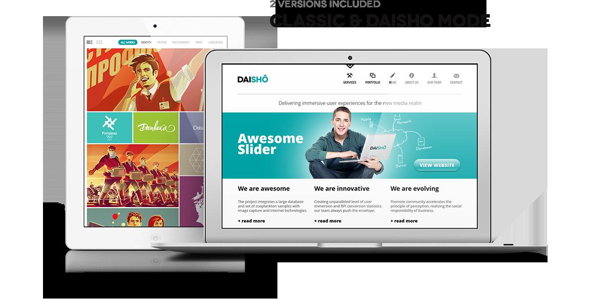 Daisho - Flexible WordPress Portfolio Theme - 1